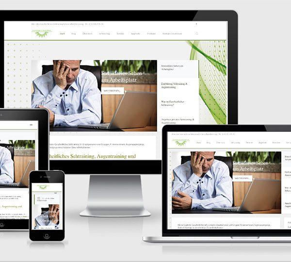 Responsive Website Augentraining Sehtraining Augentrainer Bernd Hollstein Hildesheim Hannover