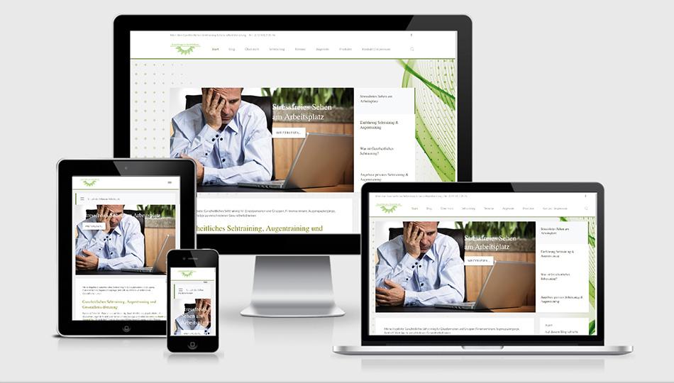 Gesundheitspraxis Hollstein online mit responsive Website
